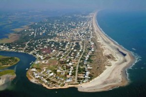 Bogue Banks is a barrier island that is 21 miles long