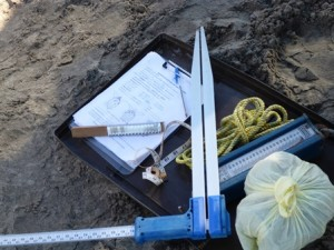 Don Jose's tools to collect data on sea turtles