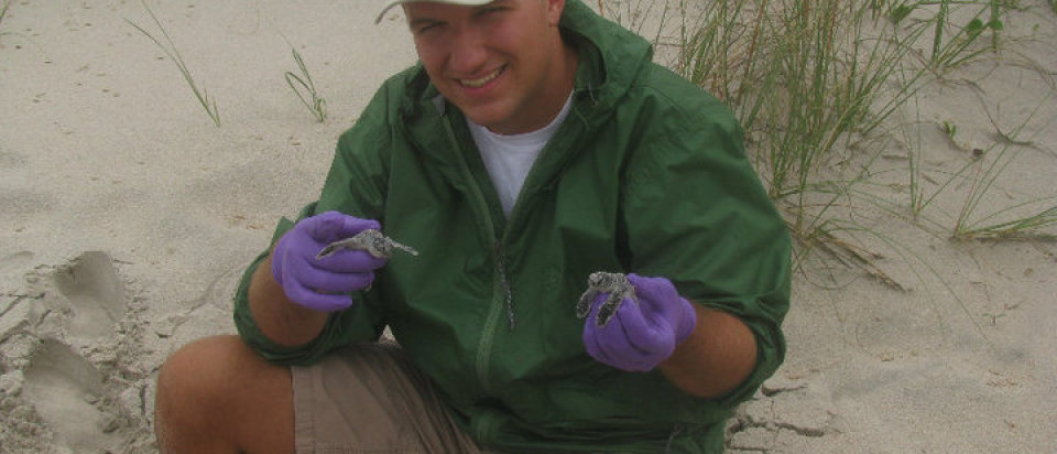 Andy with Hatchling