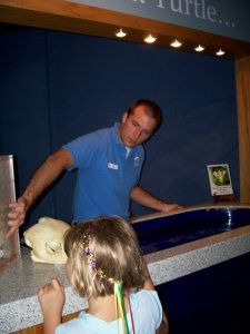 Andy as an Intern at the Aquarium