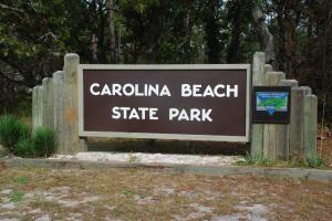 Carolina Beach State Park Entrance